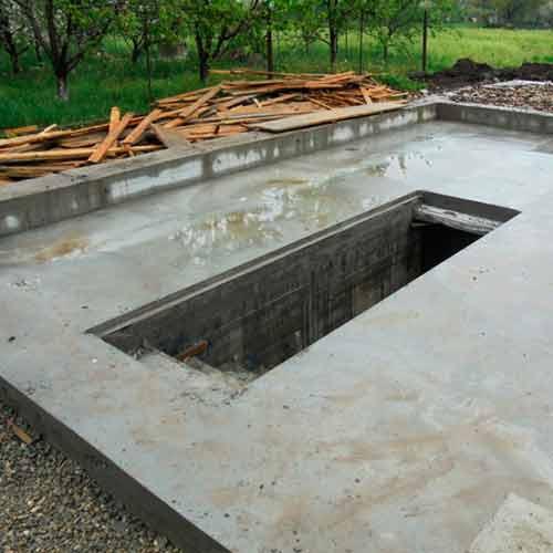 Фундамент с погребом под ключ